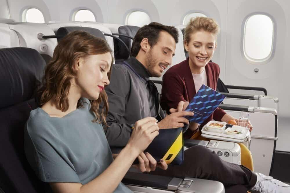 Passengers in premium economy