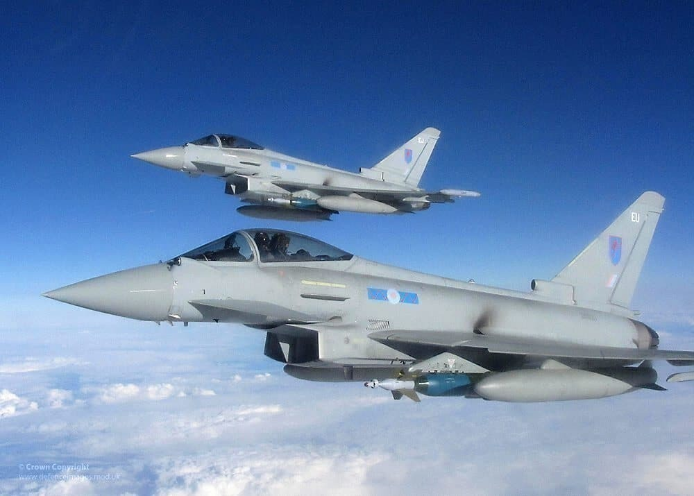 Two Typhoon jets escort Ryanair flight to Stansted