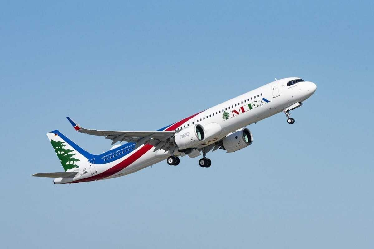 Middle East Airlines Takes Delivery Of Its First Airbus A321neo - Simple Flying