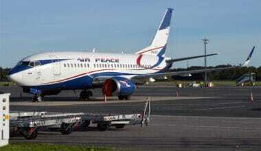 Air Peace aircraft parked