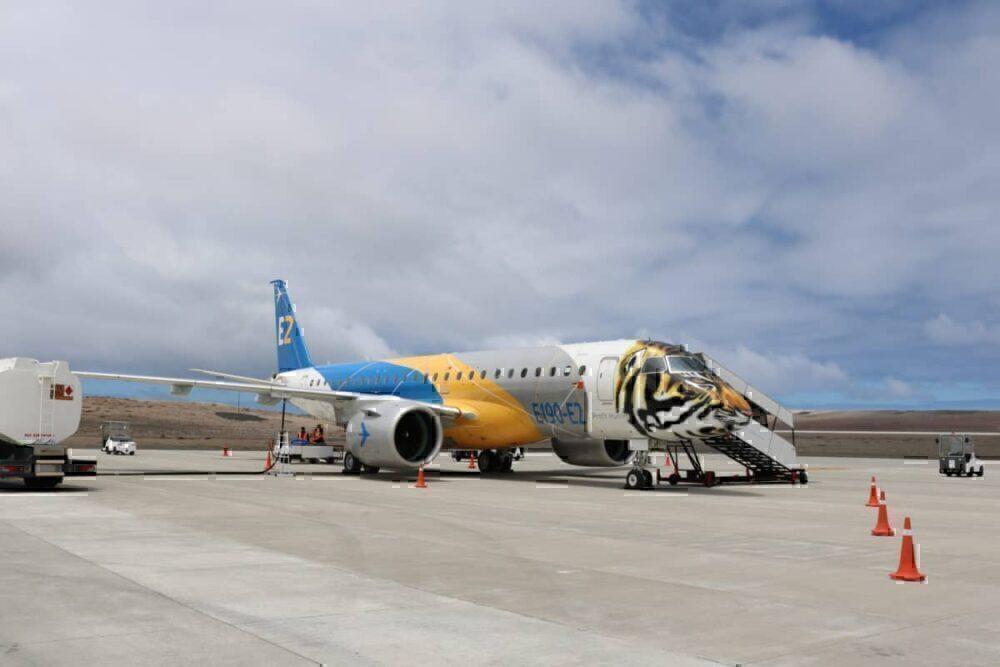 E190 E2 at Saint Helena