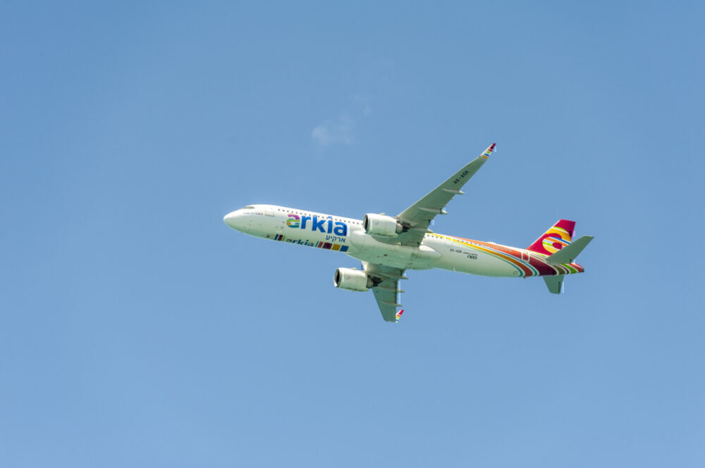 Arkia A321neo in flight