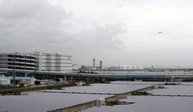 Tokyo Haneda Airport solar panels