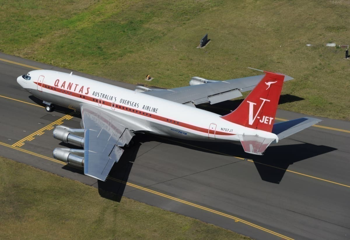 John Travolta's Boeing 707 At Sydney Airport Getty
