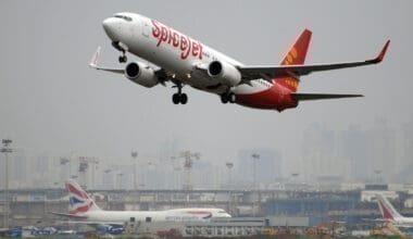SpiceJet take-off in the UK