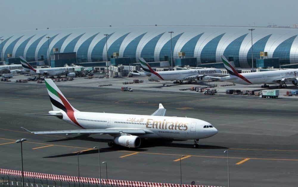 Emirates on tarmac