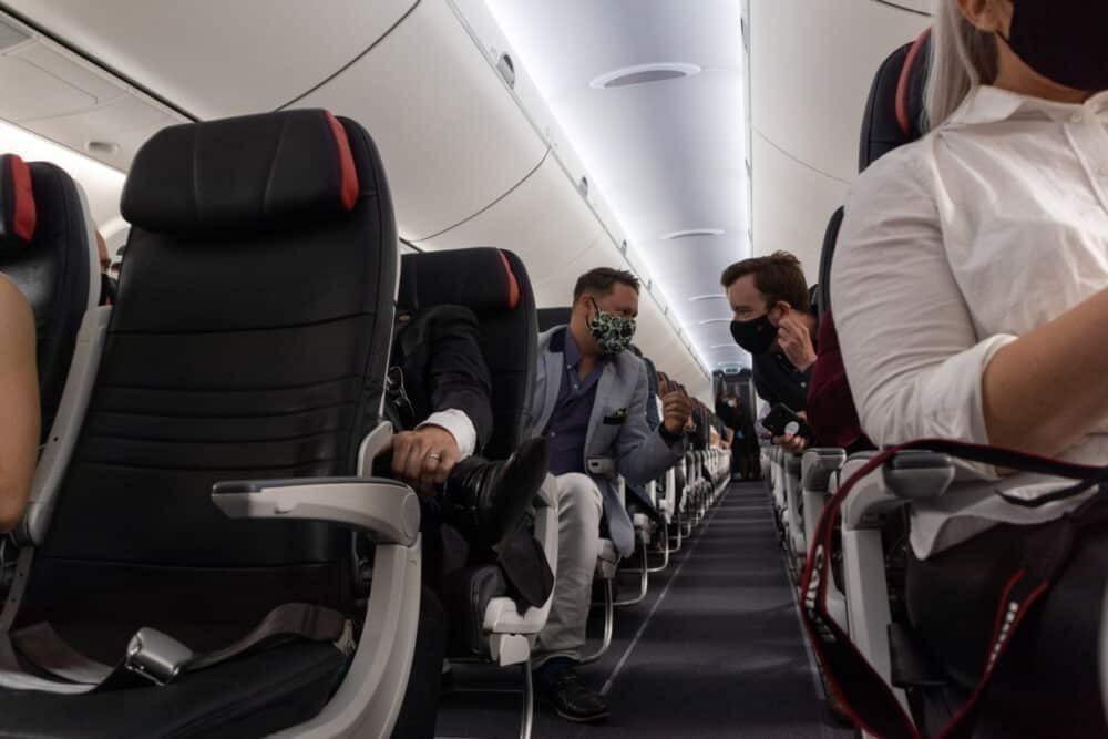 Air Canada A220 cabin