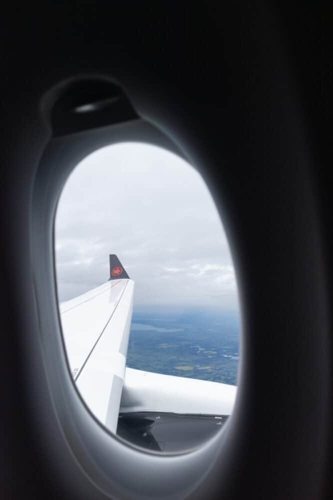 A220 Air Canada window view