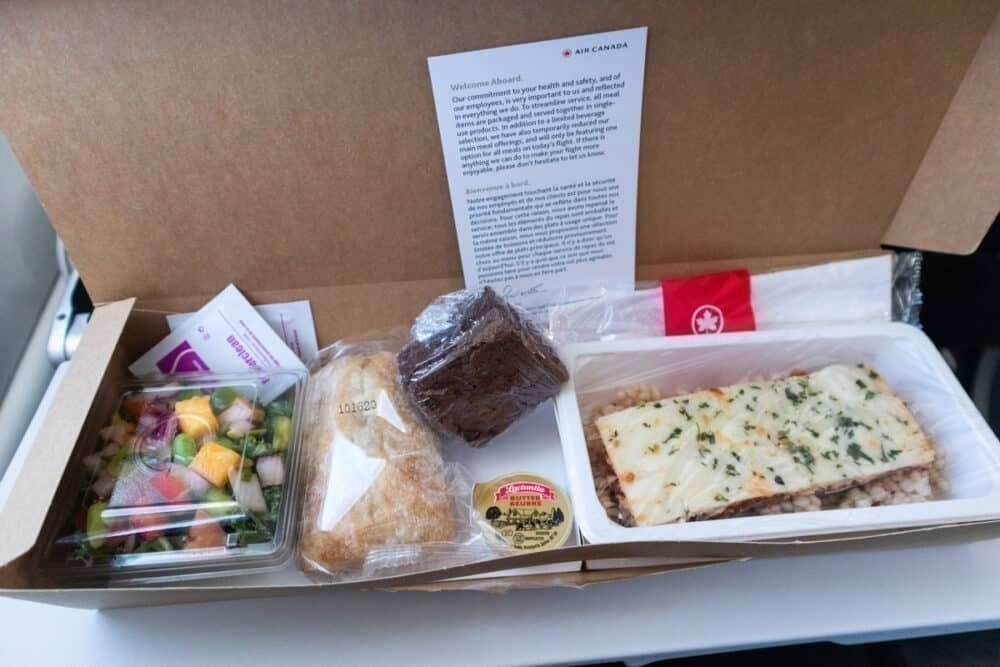 inflight meal air canada business class