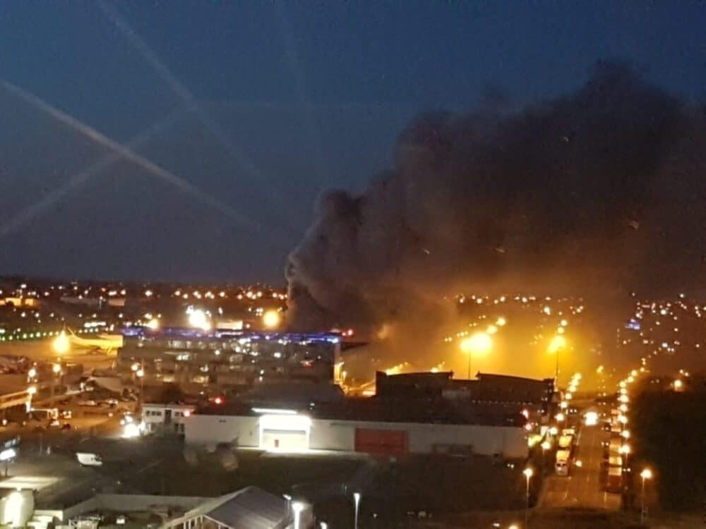 Fire at Liege Airport