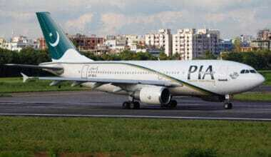 Pakistan International Airlines Airbus A310 on the ground