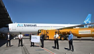 Airbus SAF Air Transat delivery