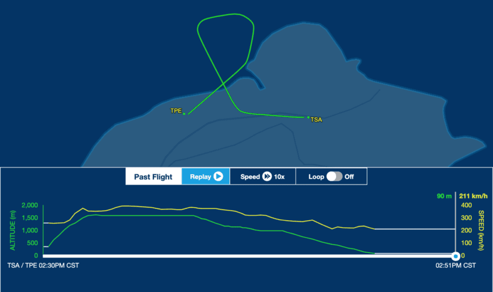 B-18302 flight path on Jun 23 2020