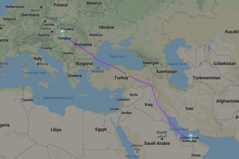 Wizz Air, Abu Dhabi, voo inaugural