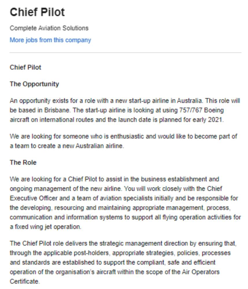 Brisbane-start-up-airline