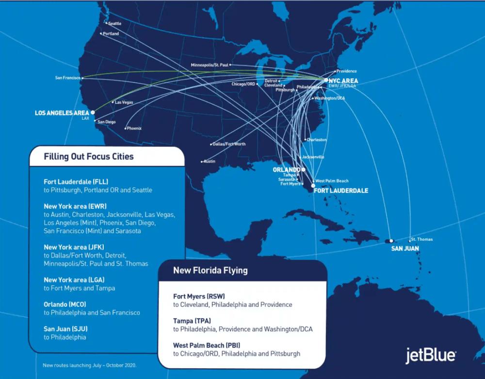 JetBlue route expansion