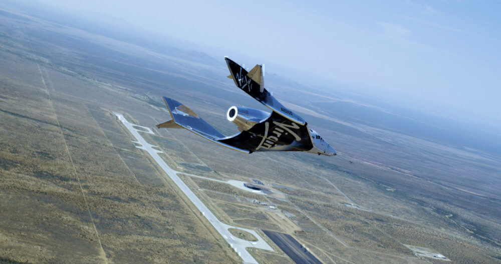 SpaceShipTwo Unity Second Glide Flight over Spaceport America