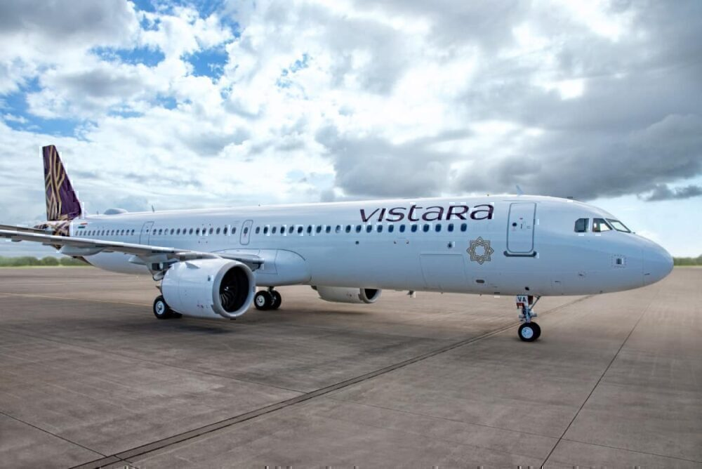 Vistara Receives Its First Airbus A321neo – With Lie Flat Business Class Seats!