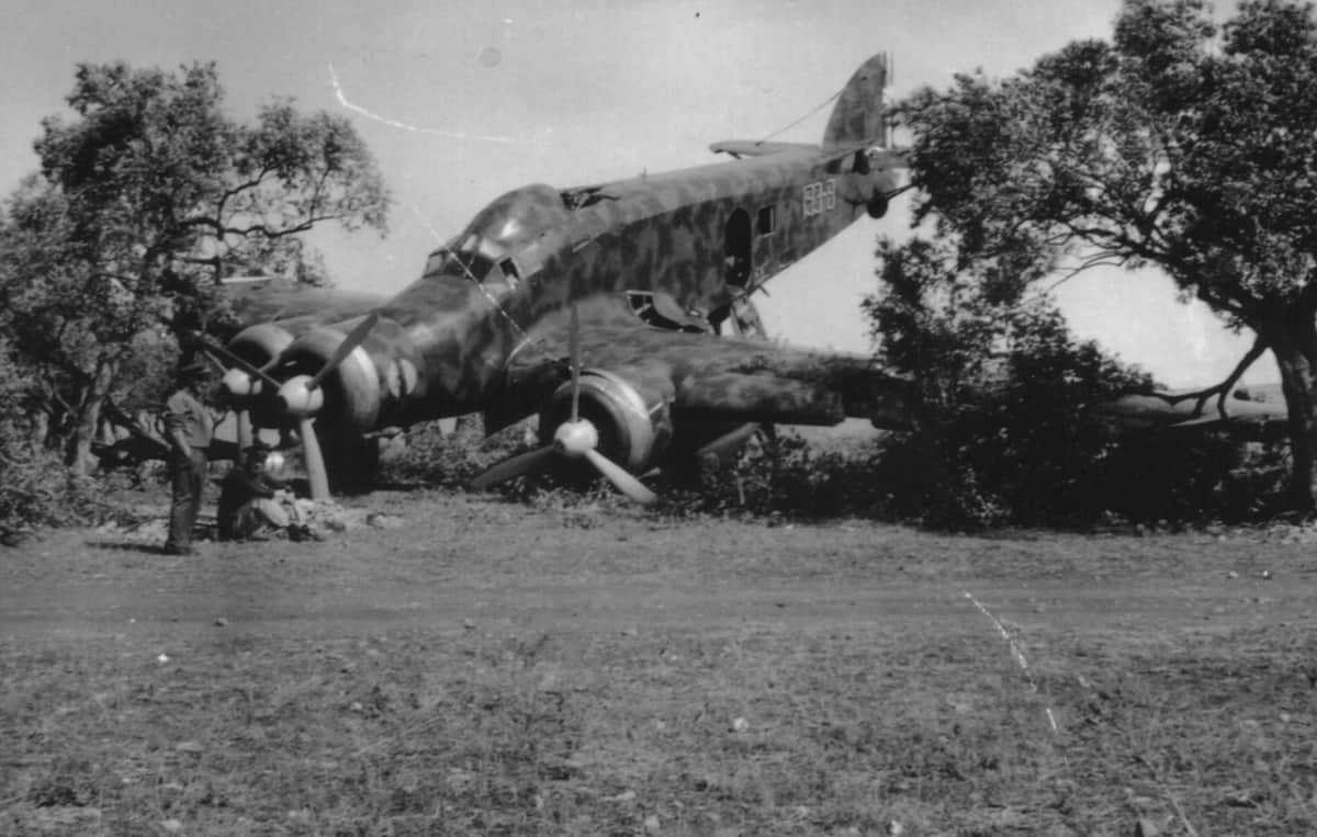 Crash landing during WWII. From the private archive of Riggio family.