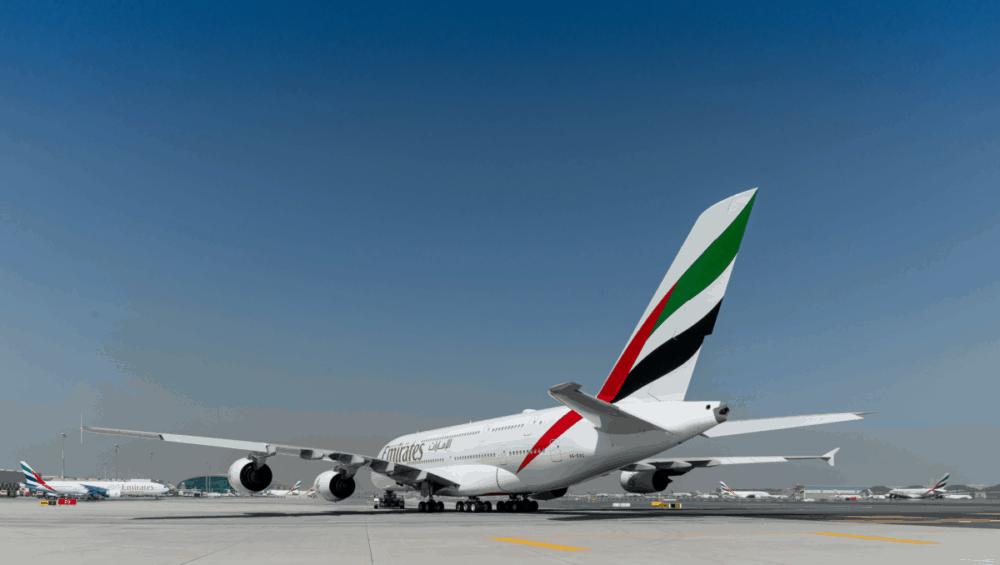 Emirates, Airbus A380, London
