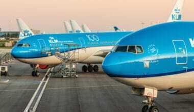 KLM aircraft at gate