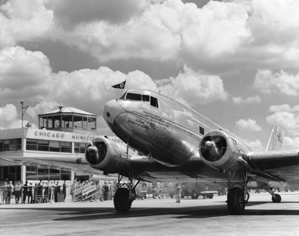 American Airlines Douglas DC-3 Getty