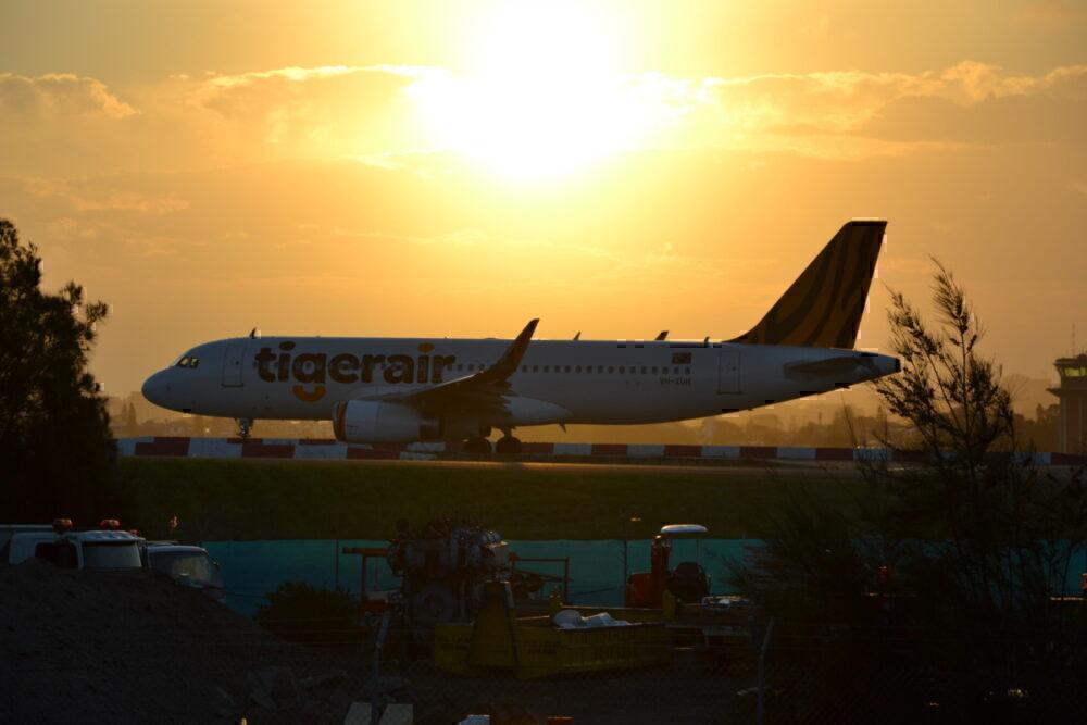 Tigerair sunset