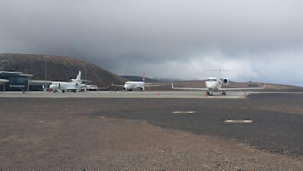 SA Airlink and Execujets at Saint Helena Airport