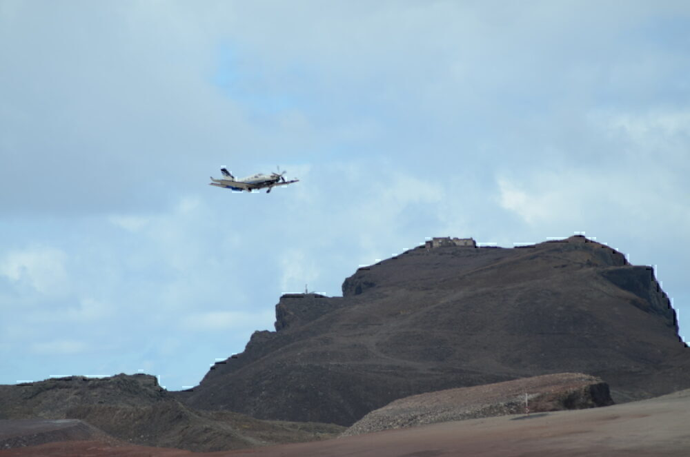Approaching over the King and Queen rocks at Saint Helena