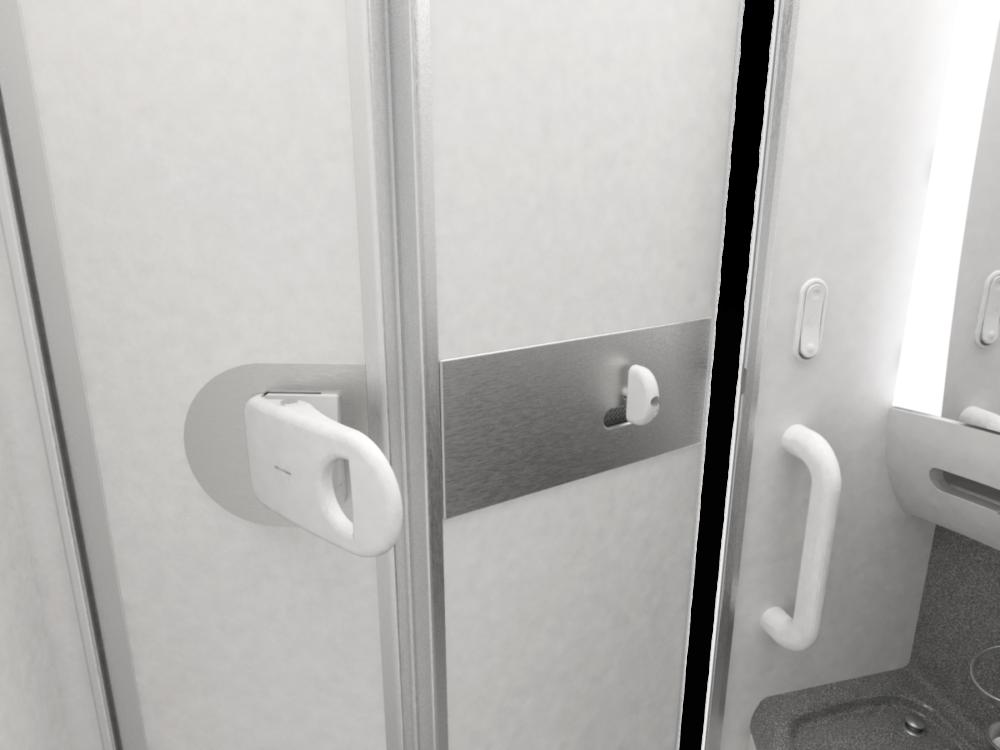 ANA Hands-free Lavatory door inside