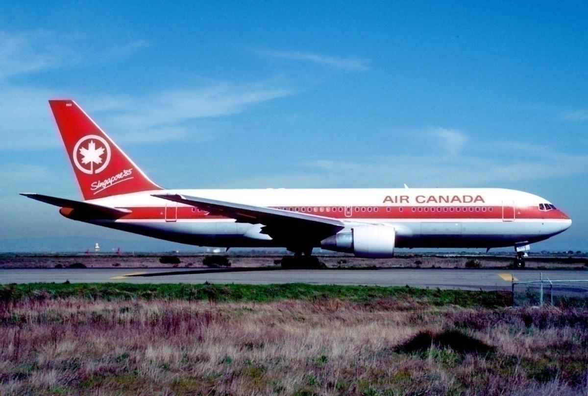 Air Canada Boeing 767-233; C-GAUN@SFO;17.02.1985