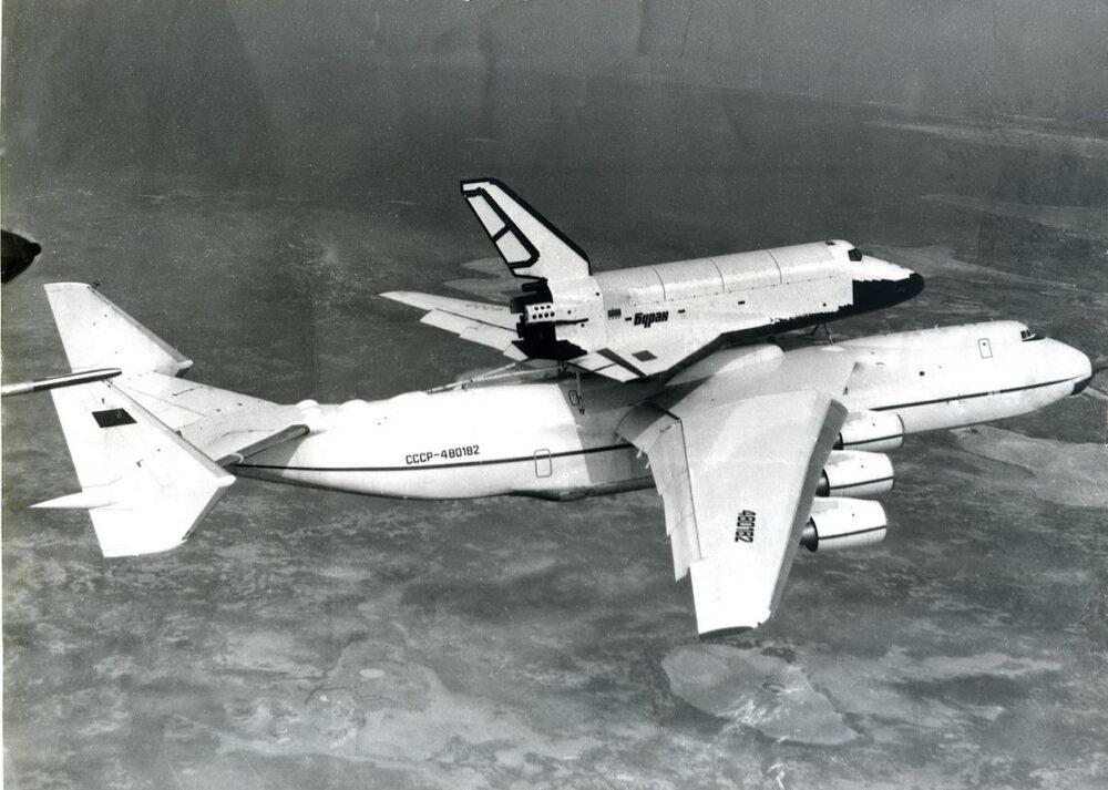 Buran spaceship on AN 225