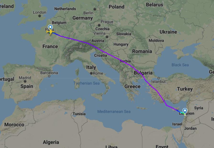 CDG-BEY Air France