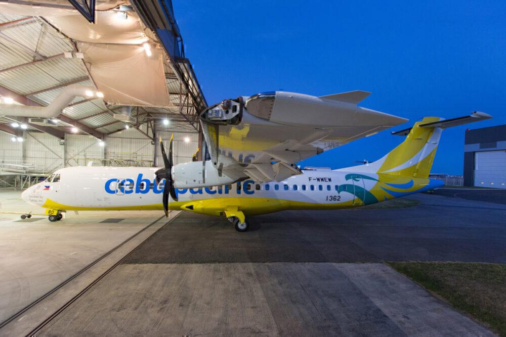 ATR 72-600 Cebu Pacific MSN 1362 sortie peinture