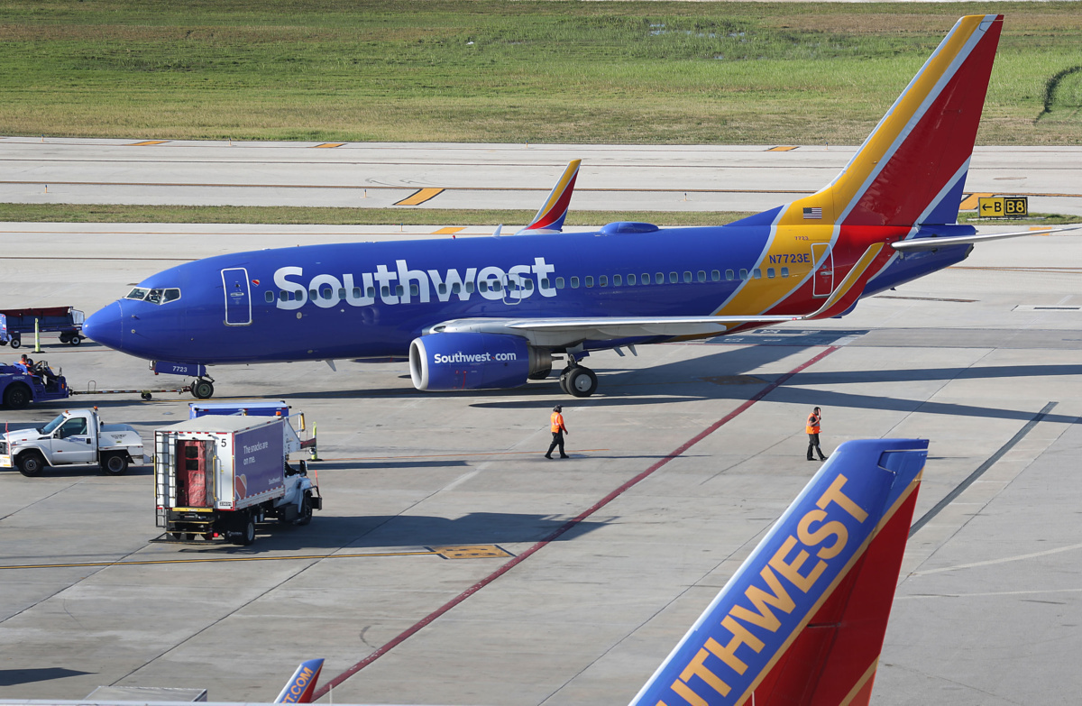 Southwest Getty Boeing 737