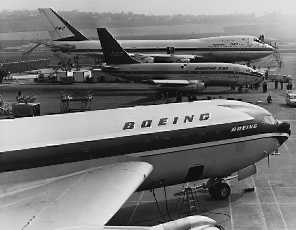 The Boeing 367-80 and 747 and 737