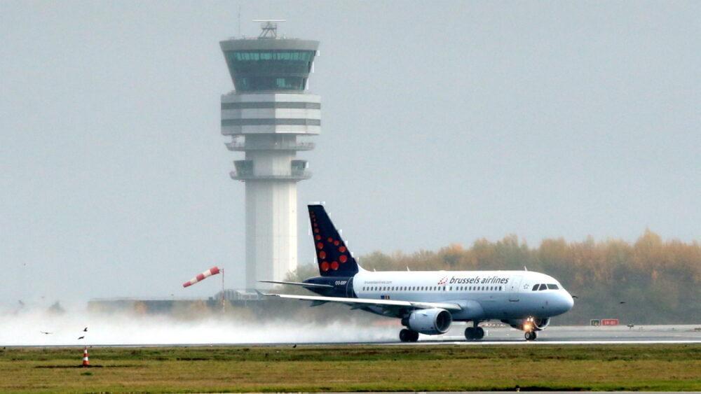 Brussels Airlines landing in Belgium