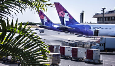 Hawaiian Airlines Boeing 767 Honolulu Airport Hawaii USA