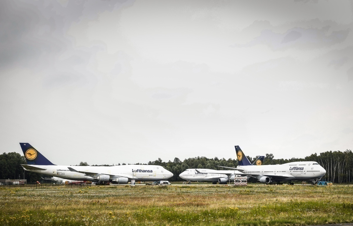 Stranded Lufthansa Boeing 747s Permitted To Depart Dutch Airport
