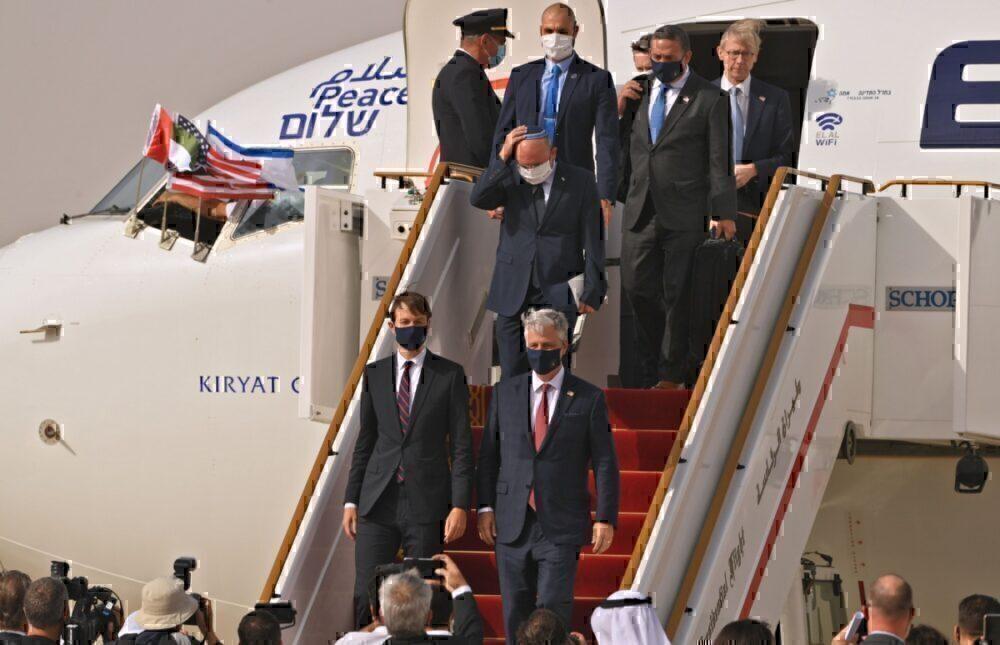 El Al, Abu Dhabi, First Flight