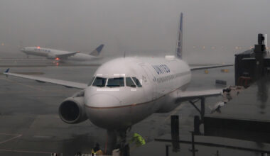 United aircraft in stormy weather