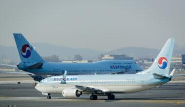 Korean Air 737 and 747
