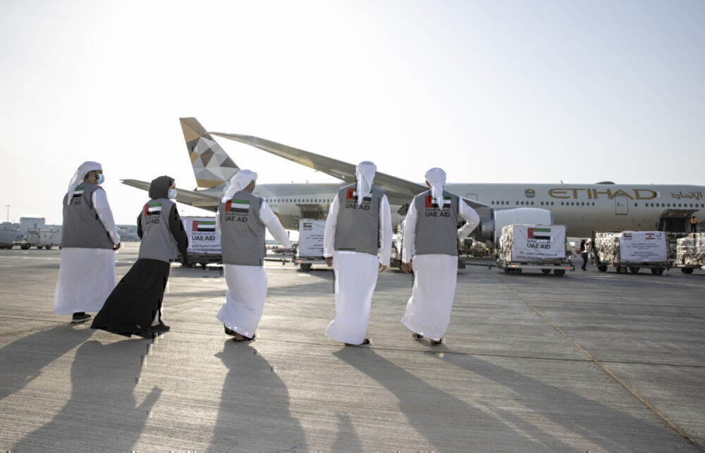 Etihad Airways, Beirut Explosion, Aid Flight