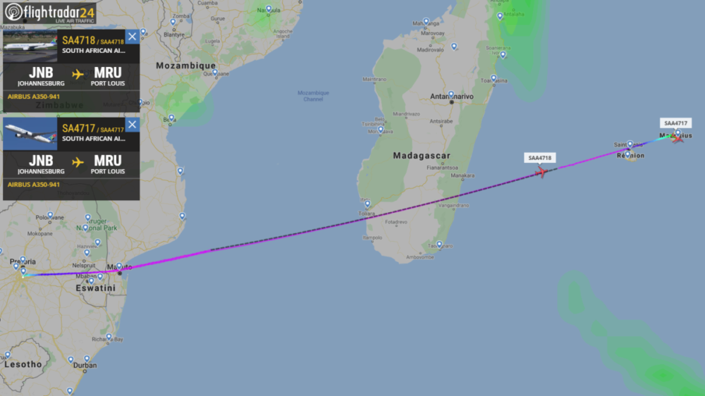 South African Airways' Remaining A350s Returned To Air Mauritius