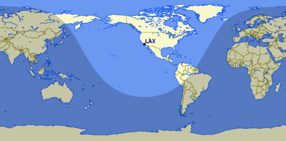 LAX A321neo range