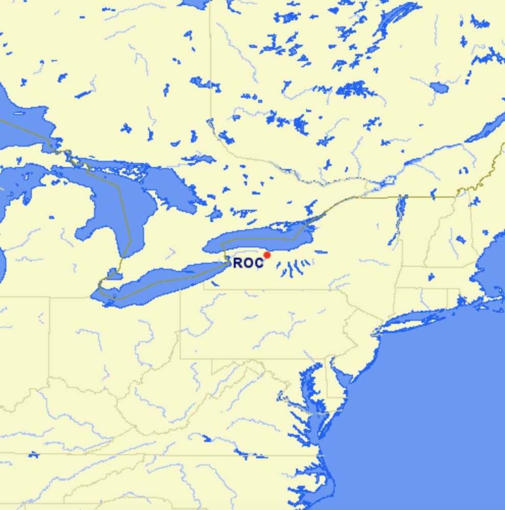 ROC airport location