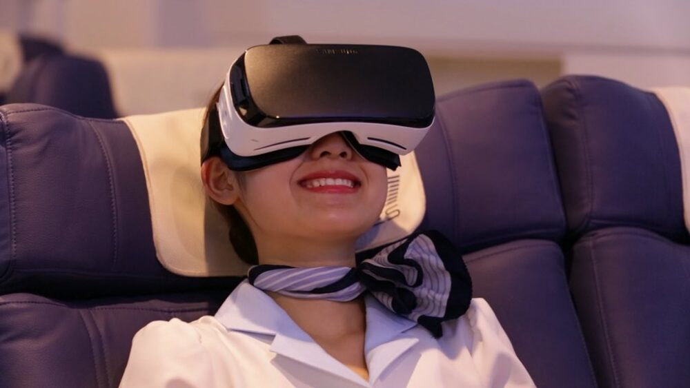 VR on First Airlines
