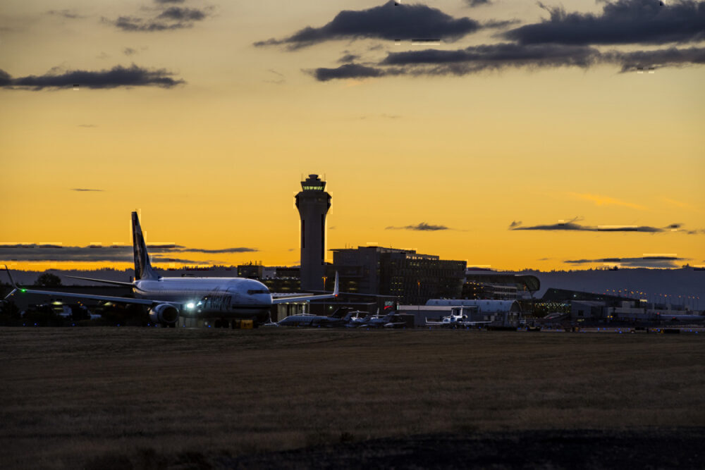 Sunset at PDX