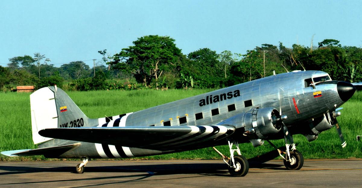 Aliansa DC-3 Skids Off Of Runway In Colombia