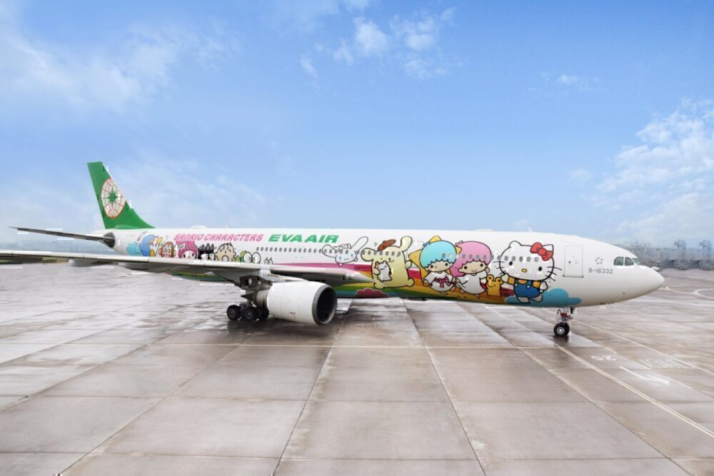 EVA Air Hello Kitty Sightseeing Flight Father's day